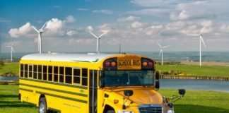 The Blue Bird Vision Propane school bus leads the alt-fuel school bus market in sales.