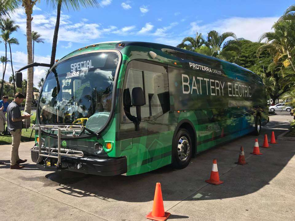The ProTerra bus recently acquired by Oahu.