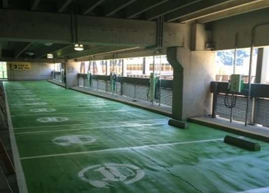 Level 2 chargers in 1st Ave garage