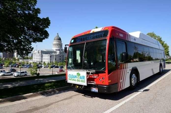 UTA CNG bus