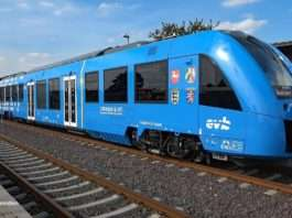 Hydrogen Powered train on rails