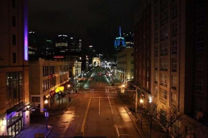 covid empty street