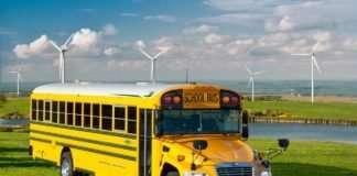 The Blue Bird Vision Propane school bus leads the alt-fuel school bus market in sales.