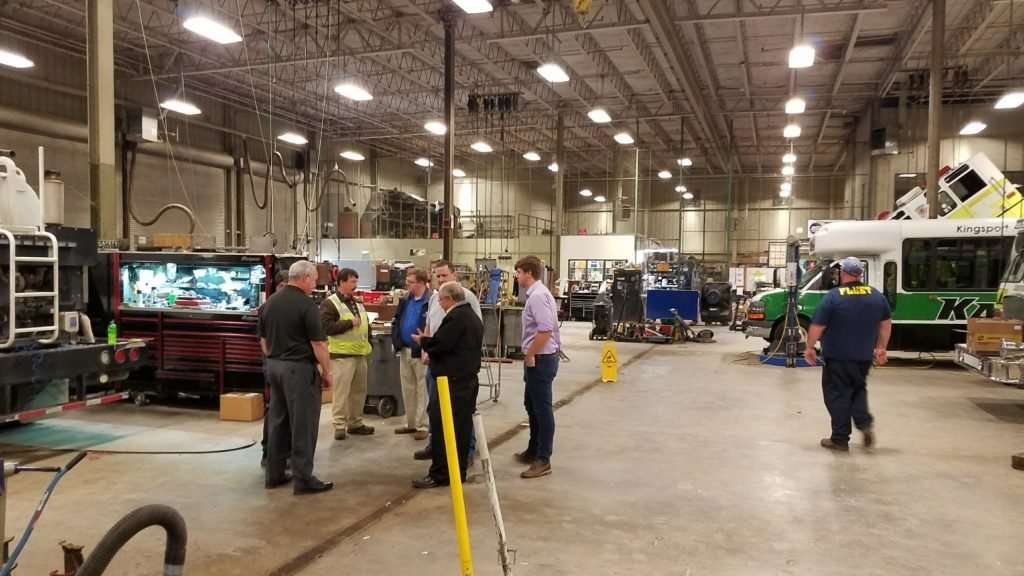 Steve Hightower and his staff with managers and employees of fleets across TN, giving them a tour of the facilities in Kingsport and explaining the details and benefits of propane autogas.