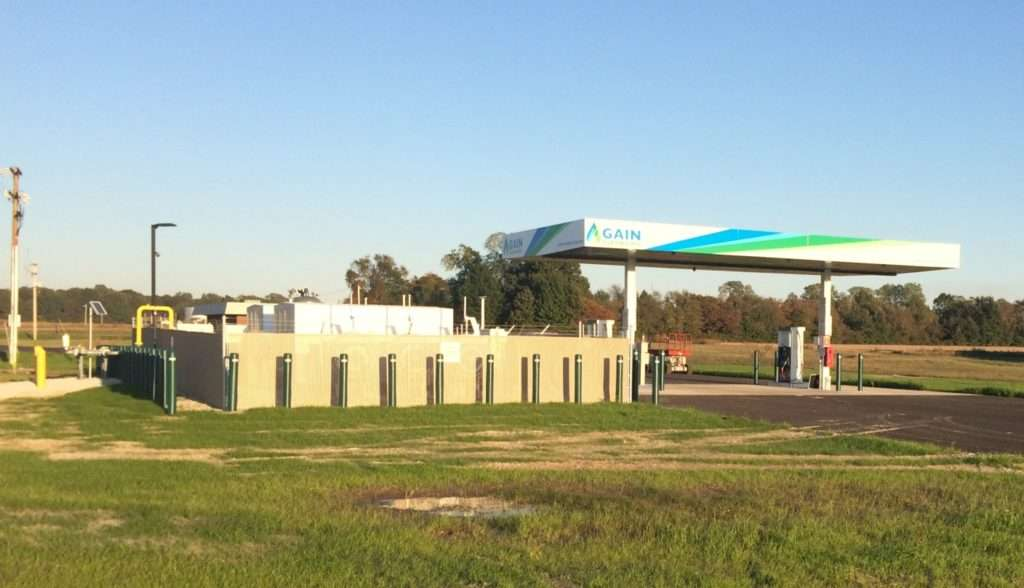 A clearer shot of the CNG station in Arkansas.
