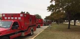 Euless ambulances plugged in
