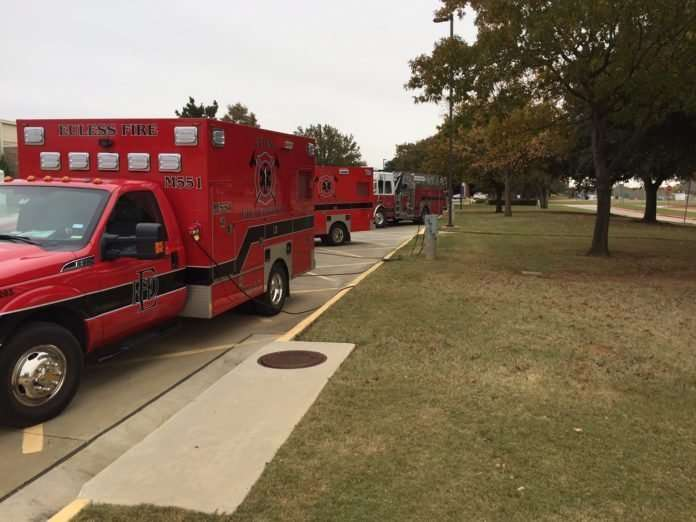 Euless ambulances plugged in