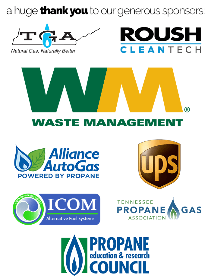 Tennessee Clean Fuels thanks the sponsors of our 2018 First Responder Training sessions for alternative fuels