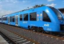 Hydrogen Powered train on rails
