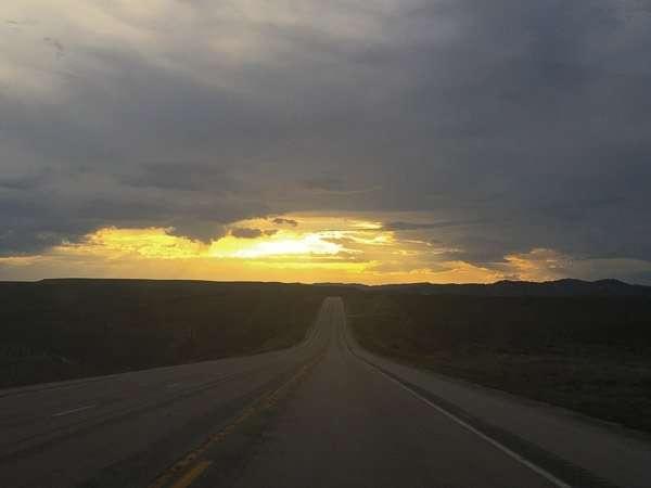 susan's highway sunset on roadtrip