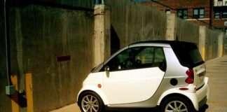 SMART Car in Parking Lot